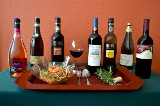 vega wines with pasta