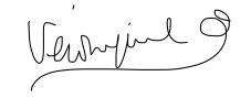 V - signature
